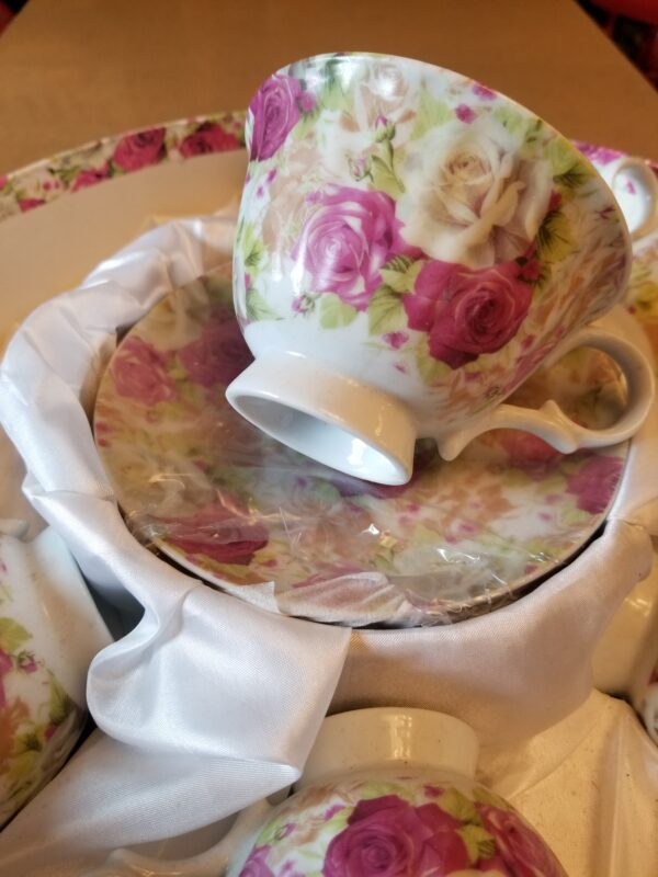 Tea Cups with Saucers detail