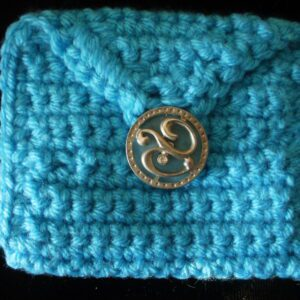 light blue rectangle coin/rosary purse 6