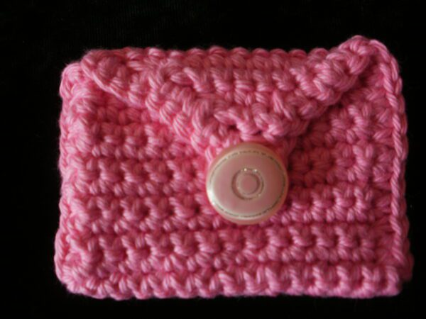 rectangle pink coin/rosary purse 8