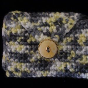 rectangle grey yellow white coin/rosary purse 9