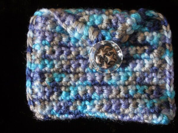 rectangle turquoise great white coin/purse 11