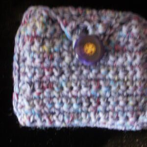 pink purple white rectangle coin/rosary purse 12