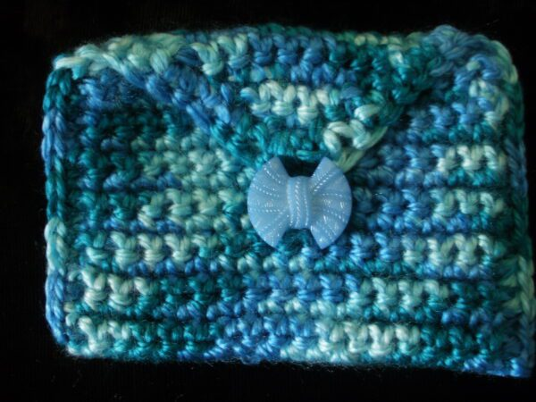 shades of blue rectangle coin/rosary purse 17