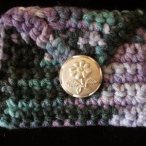 grey purple rectangle coin/rosary purse 18
