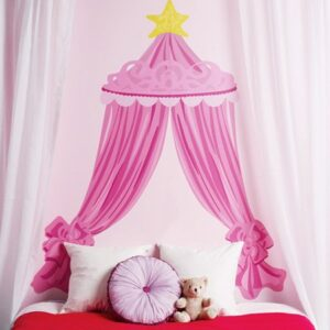 Wallies Headboards Pink Canopy